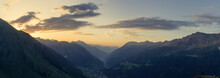 Switzerland, Ticino, Airolo, Panorama Morning Mood At Gotthard Pass