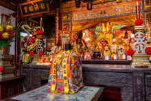 Taiwan, Tainan, Altar At GrandÔøΩMazuÔøΩTemple