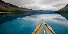 Canoe In Twin Lake.