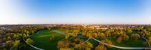 Germany, Bavaria, Munich, Aerial Panorama OfÔøΩEnglish Garden In Spring