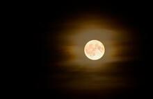 Germany, Full Moon Glowing Against Night Sky