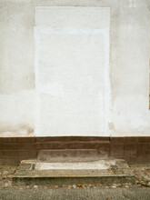 Germany, Berlin, White Wall And Camouflaged Doorway