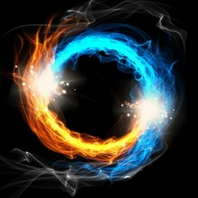 Fiery Particle