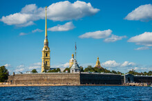 Peter And Paul Fortress From The River Neva, St. Petersburg, Russia