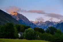 Slovenia, Julian Alps, Triglav Mountains, Soca Valley, Near Bovec, Mountain Vrh Krnice, Hidden House
