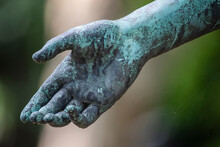 Weathered Arm Of Bronze Statue