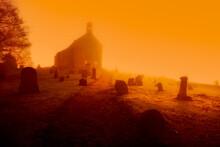 United Kingdom, Scotland, Fife, Graveyard, Conceptual Apocalyptic