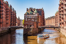 Germany, Hamburg, Old Warehouse District And Water Castle