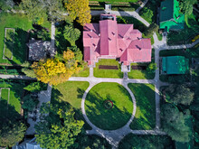 Drone Shot Of Abramtsevo State Historical, Artistic And Literary Museum-Reserve