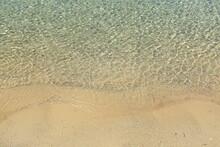 Sandy Beach With Clear Sea. Adriatic Sea In Croatia.