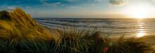 Denmark, Jutland, Lokken, Dune Landscape And North Sea