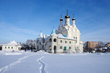 MYTISHCHI, RUSSIA - January, 2021: Church Of The Annunciation Of The Blessed Virgin