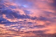 Cloudly Sky. Sunset. No Filter