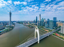 Bridge Over The River In Guangzhou City View
