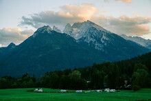 Camp At Forest Edge In Berchtesgaden Alps