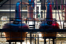 Copper Stills In Ardara For The Production Of Irish Whiskey