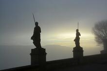 彫像 シルエット ヨーロッパ