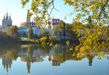 Novodevichy Monastery In Moscow In The Autumn Park