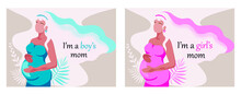 Pregnant Woman Vector Illustration In Flat Style