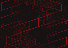 Abstract Background Of Red Line And Dark Color Background  Of Modern Design,vector Illustration