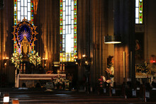 St. Antoine Catholic Church Istanbul Turkey: It Is The Largest And Most Congregational Catholic Church In Istanbul. Flamboyant And Historic Catholic Church. Selective Focus