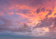 canvas print picture - Awesome clouds and sunset