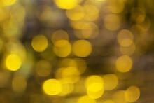 Yellow Bokeh. Defocus. Background. Blurred