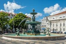 Rossio Square, Lisbon, Portugal Le Rossio Est Le Nom Historique De La Place Don Pedro IV Située Dans La Partie Basse De La Vieille Ville De Lisbonne Au Portugal.