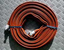 Roll Of Red Fire Hose