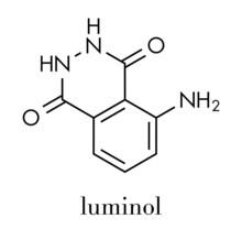 Luminol Chemiluminescent Molecule. Used To Detect Blood At Crime Scenes. Skeletal Formula.