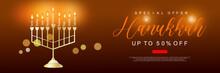 UI Design Template Of Hanukkah (Jewish Festival)