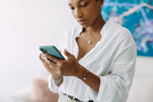 A Business Woman With A Mobile Phone