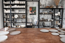 Interior Of Professional Pottery