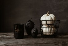 Dark Mood Home Decorations With Pumpkin