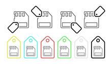 Memory Card Vector Icon In Tag Set Illustration For Ui And Ux, Website Or Mobile Application