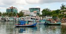 Fishing Vessel Port On Phu Quoc Island, Vietnam