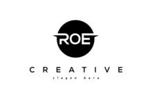 ROE Creative Circle Three Letters Logo Design Victor