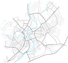 Orel City Map - Town Streets On The Plan. Map Of The Scheme Of Road. Urban Environment, Architectural Background. Vector