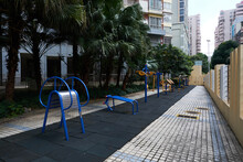 Outdoor Fitness Area In Residential Area