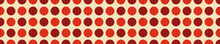 Colorful Circle Pattern With Red Background