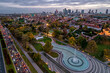 Panorama of the city of Warsaw, Poland.