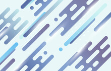 Abstract Gradient Blue And Purple Stripe Line Pattern Artwork Decorative. Cover Style Of Minimal Artwork Template Background. Illustration Vector