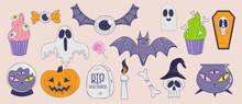Set Of Isolated Halloween Elements - Vector Illustration, Eps Stock Illustration