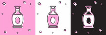 Set Indian Vase Icon Isolated On Pink And White, Black Background. Vector