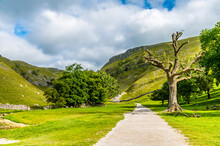 A View Looking Up The Path Towards Gordale Scar, Yorkshire In Summertime