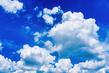 Sky And Cloudscape,white And White Cloud Float In Light Blue Sky