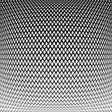 Abstract Geometric Halftone Pattern In 3D Convex Spherical Shape.