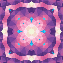 Abstract Geometric Background. Seamless Pattern Design. Mosaic Decorative Structure. Vector Illustration. Magic Mandala.