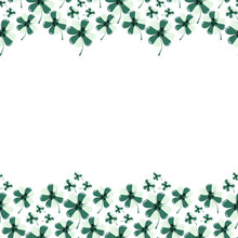 St. Patricks Day. Clover Pattern Vector Illustration Concept.
