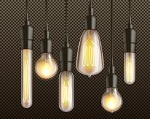 Incandescent Light Bulbs Realistic Vector Set